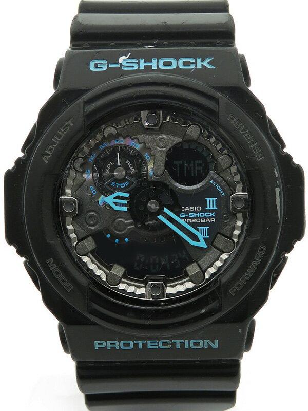 【CASIO】【G-SHOCK】カシオ『Gショック ブラック×ブルーシリーズ』GA-300BA-1AJF メンズ クォーツ 1週間保証【中古】