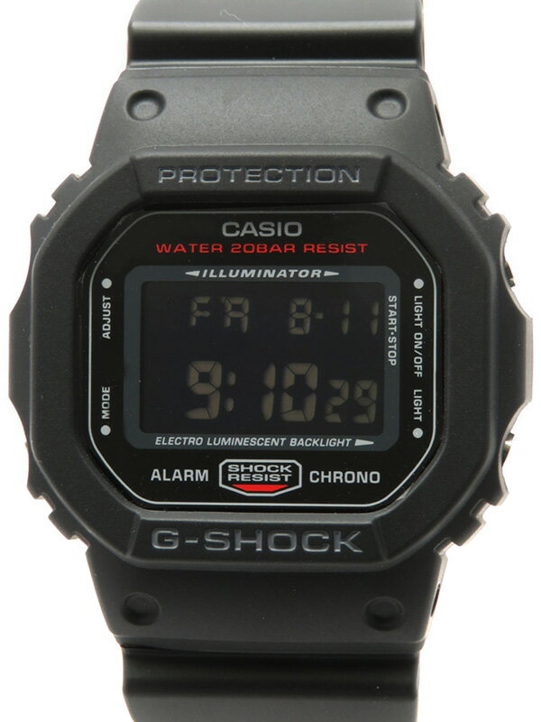 【CASIO】【G-SHOCK】【美品】【海外モデル】カシオ『Gショック ブラック&レッドシリーズ』DW-5600HR-1ER ボーイズ クォーツ 1週間保証【中古】