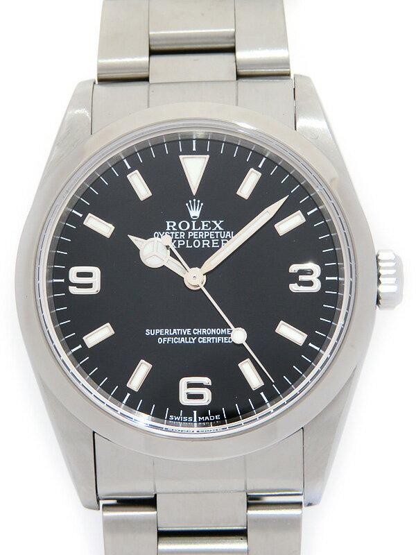 【ROLEX】ロレックス『エクスプローラー1』14270 P番'00年頃製 メンズ 自動巻き 12ヶ月保証【中古】