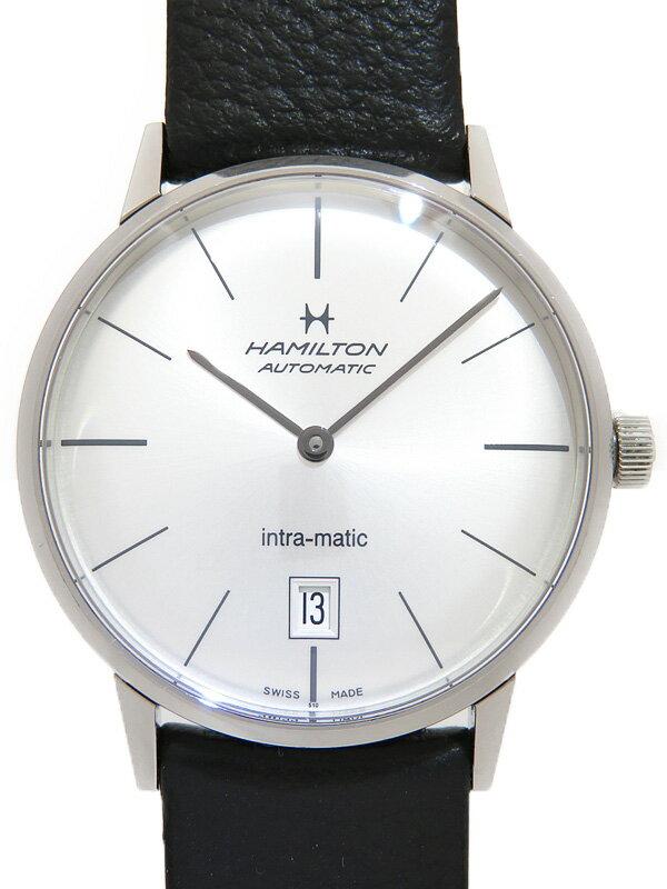 【HAMILTON】【裏スケ】ハミルトン『イントラ マティック』H38455751 メンズ 自動巻き 1ヶ月保証【中古】