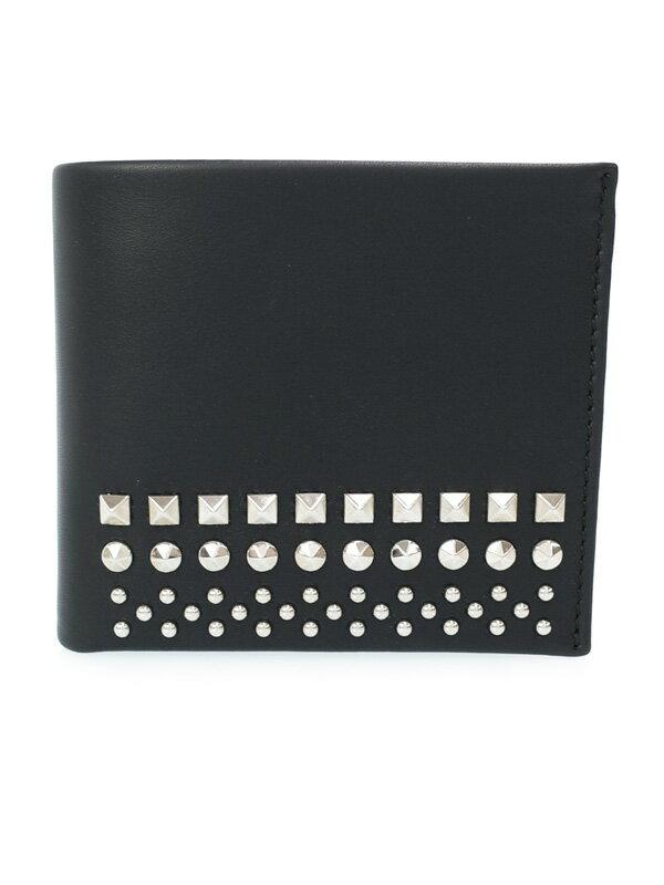 【GUCCI】グッチ『スタッズ 二つ折り短財布』387454 メンズ 1週間保証【中古】