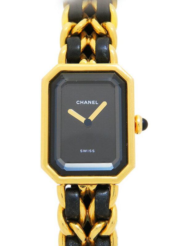 【CHANEL】【OH・電池交換済】シャネル『プルミエール Mサイズ』H0001 レディース クォーツ 1ヶ月保証【中古】