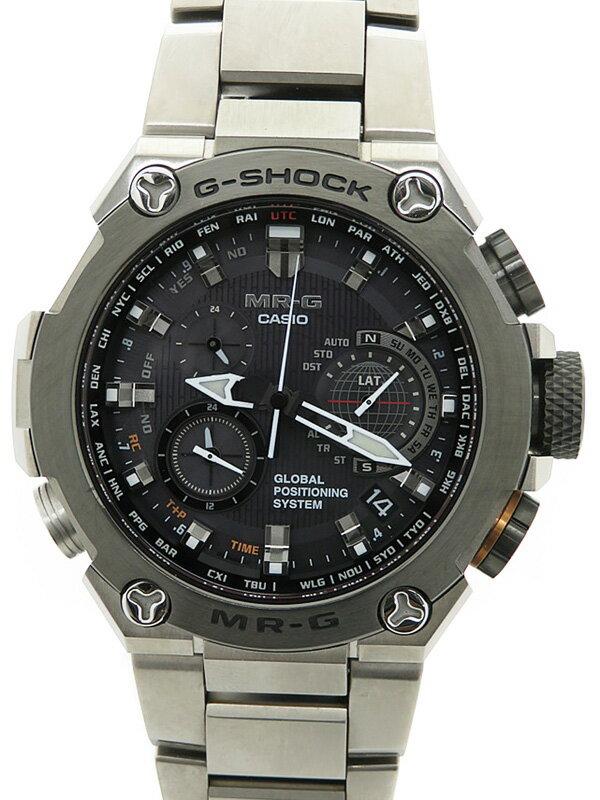【CASIO】【G-SHOCK】【GPSハイブリッド電波ソーラー】【海外モデル】カシオ『Gショック MR-G』MRG-G1000D-1ADR メンズ ソーラー電波GPS 1ヶ月保証【中古】