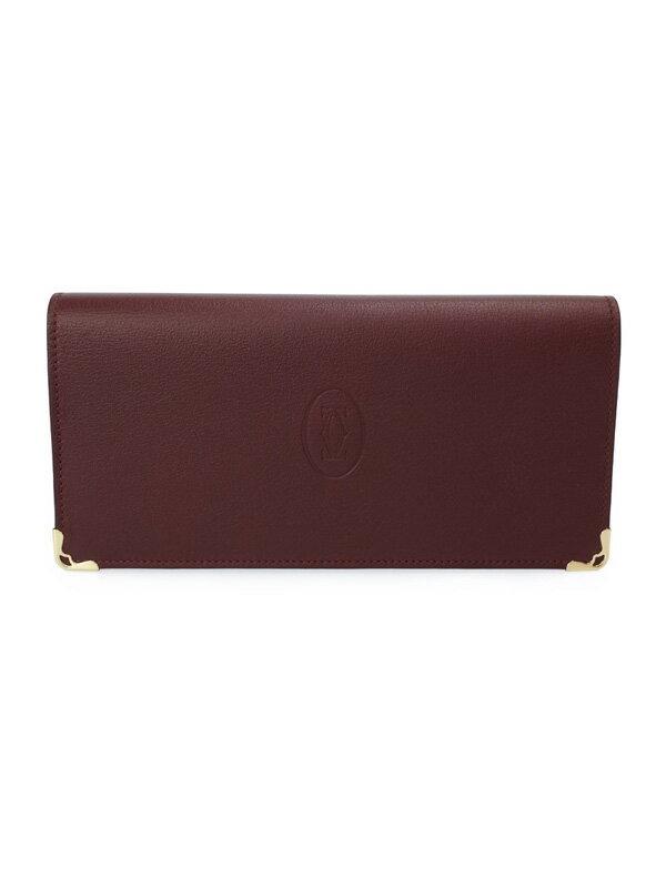 【Cartier】カルティエ『マスト ドゥ カルティエ 二つ折り長財布』L3001362 メンズ 1週間保証【中古】