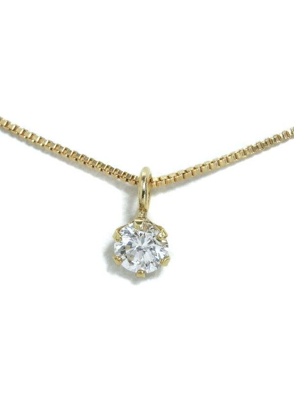セレクトジュエリー『K18YGネックレス 1Pダイヤモンド0.082ct』1週間保証【中古】