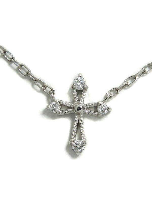 セレクトジュエリー『PT900/PT850 ネックレス ダイヤモンド0.03ct クロスモチーフ』1週間保証【中古】