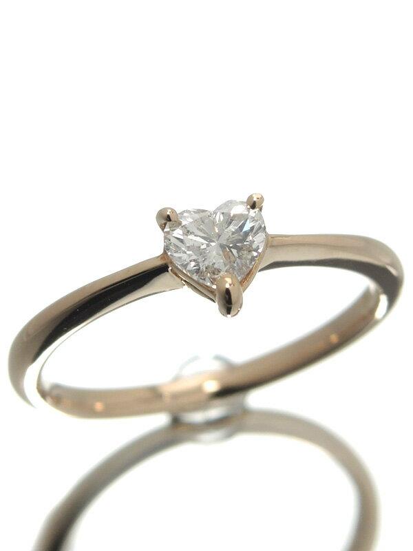 セレクトジュエリー『K18PGリング ダイヤモンド0.33ct ハートモチーフ』11号 1週間保証【中古】