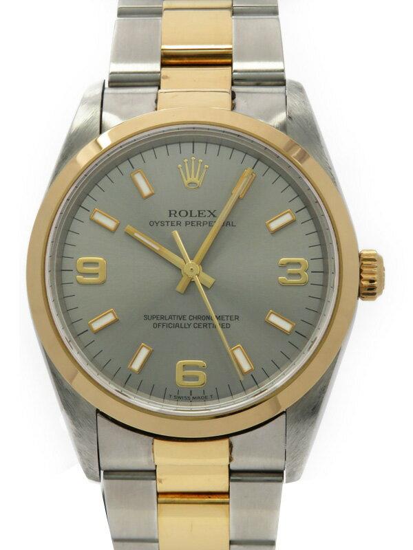 【ROLEX】【グレー3・6・9】ロレックス『オイスターパーペチュアル』14203 U番'97年頃製 メンズ 自動巻き 12ヶ月保証【中古】