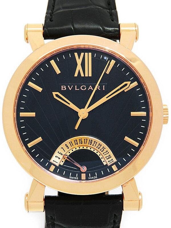 【BVLGARI】【裏スケ】【PGケース】ブルガリ『ソリティオ』SBP42GDR メンズ 自動巻き 6ヶ月保証【中古】