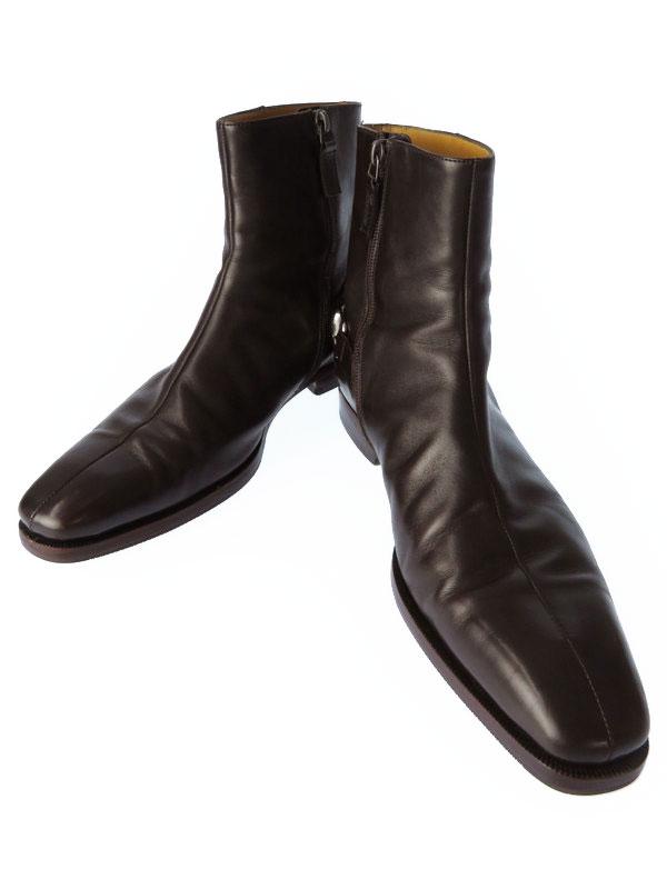 【GUCCI】グッチ『ホースビットショートブーツ  size39 1/2』204398 メンズ 1週間保証【中古】