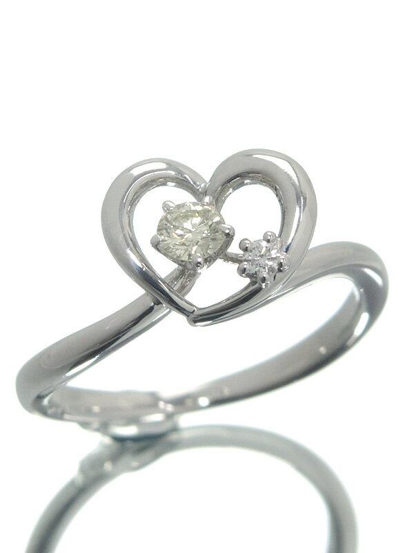 【TASAKI】【仕上済】タサキ『K18WGリング ダイヤモンド0.11ct ハートモチーフ』9号 1週間保証【中古】