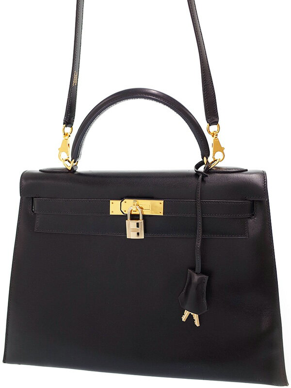 【HERMES】【ゴールド金具】エルメス『ケリー32 外縫い』E刻印 2001年製 レディース 2WAYバッグ 1週間保証【中古】