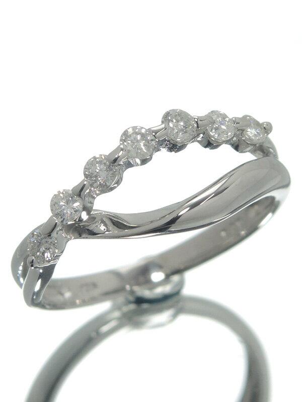 【仕上済】セレクトジュエリー『K10WGリング ダイヤモンド0.30ct』12号 1週間保証【中古】