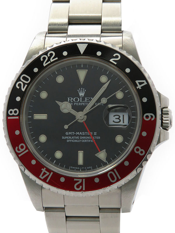 【ROLEX】ロレックス『GMTマスター2 赤×黒ベゼル』16710 U番'97年頃製 メンズ 自動巻き 12ヶ月保証【中古】