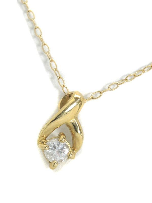 【仕上済】セレクトジュエリー『K18YGネックレス ダイヤモンド0.10ct』1週間保証【中古】