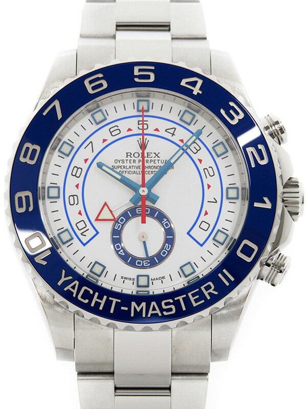【ROLEX】【'14年購入】ロレックス『ヨットマスター2』116680 ランダム番 メンズ 自動巻き 12ヶ月保証【中古】
