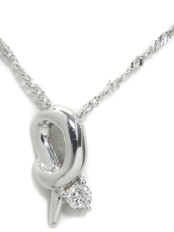 セレクトジュエリー『K18WGネックレス ダイヤモンド0.05ct』1週間保証【中古】