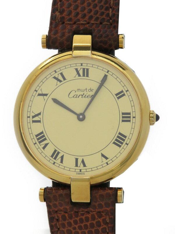 【Cartier】【電池交換済】カルティエ『マストヴァンドーム ヴェルメイユ』ボーイズ クォーツ 1ヶ月保証【中古】