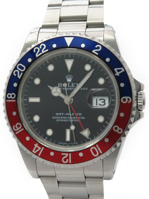 【ROLEX】【OH済】ロレックス『GMTマスター 赤×青ベゼル』16700 E番'90年頃製 メンズ 自動巻き 12ヶ月保証【中古】