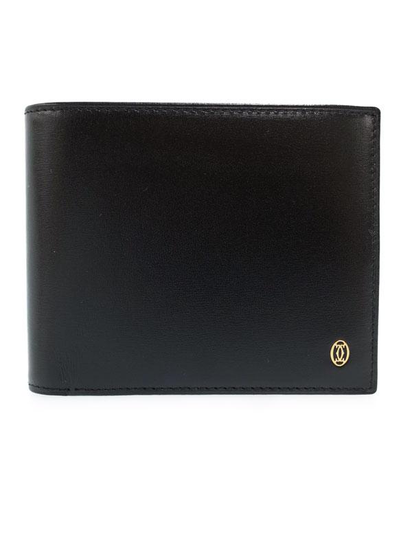 【Cartier】【小銭入れ無し】カルティエ『パシャ ドゥ カルティエ ウォレット』L3000220 メンズ 二つ折り短財布 1週間保証【中古】