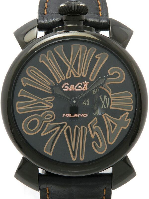 【GaGa MILANO】ガガミラノ『マヌアーレ スリム 46mm』5086.1 メンズ クォーツ 1ヶ月保証【中古】