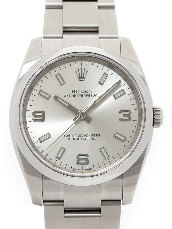 【ROLEX】【'16年購入】【美品】ロレックス『オイスターパーペチュアル』114200 ランダム番 メンズ 自動巻き 12ヶ月保証【中古】