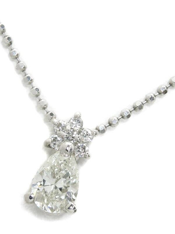 【ソーティング】セレクトジュエリー『PT900/PT850ネックレス ダイヤモンド0.503ct/I/VVS-2 0.06ct』1週間保証【中古】