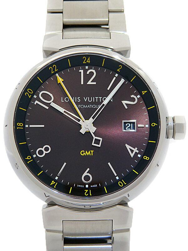 【LOUIS VUITTON】ルイヴィトン『タンブール オートマティック GMT』Q11551 メンズ 自動巻き 3ヶ月保証【中古】