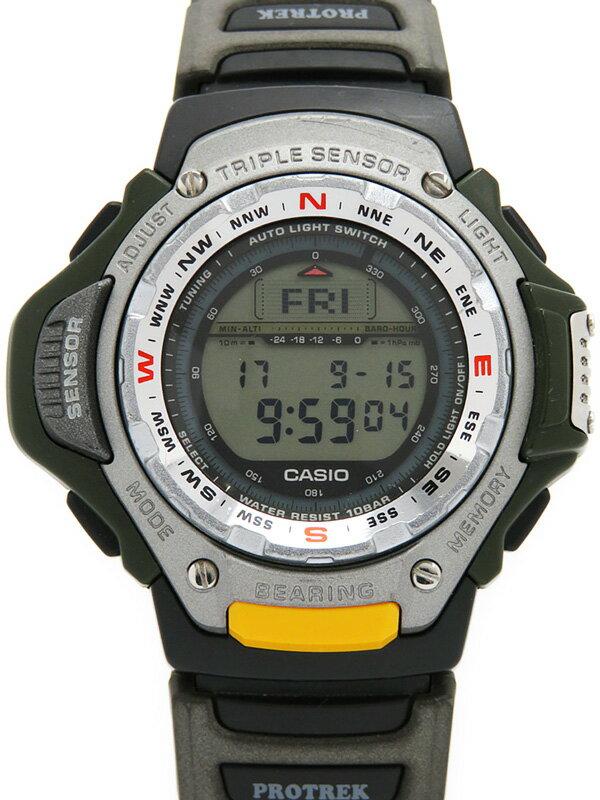 【CASIO】【PROTREK】カシオ『プロトレック トリプルセンサー』PRT-41SJ メンズ クォーツ 1週間保証【中古】