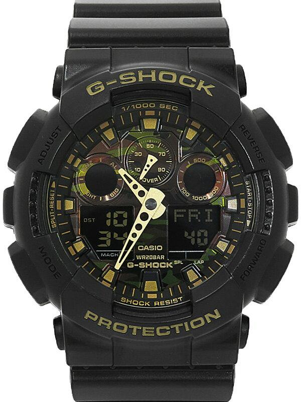 【CASIO】【G-SHOCK】【美品】カシオ『Gショック カモフラージュダイアルシリーズ』GA-100CF-1A9JF メンズ クォーツ 1週間保証【中古】