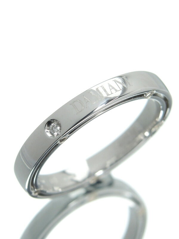 【DAMIANI】【仕上済】ダミアーニ『K18WGリング 1Pダイヤモンド』14.5号 1週間保証【中古】