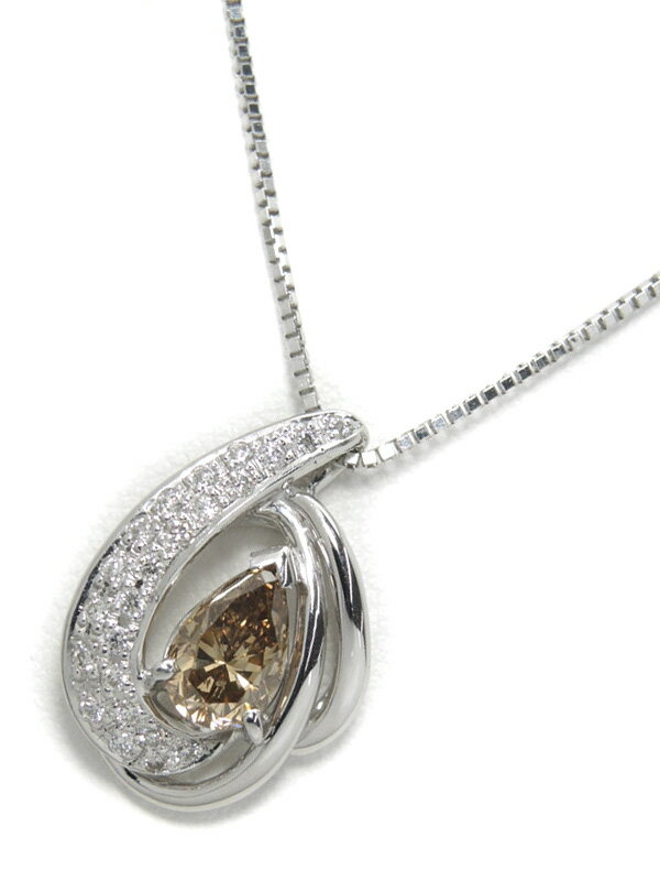 セレクトジュエリー『K18WGネックレス ダイヤモンド1.077ct 0.19ct』1週間保証【中古】