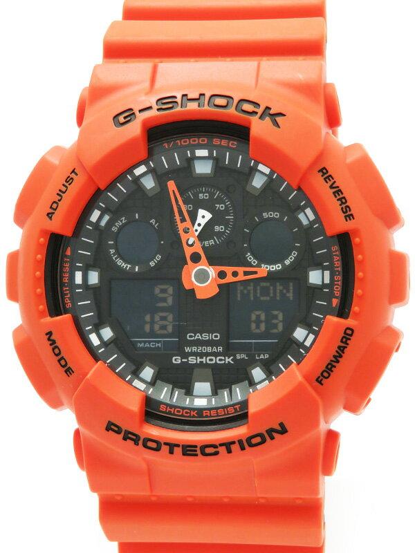 【CASIO】【G-SHOCK】カシオ『Gショック』GA-100L-4AJF メンズ クォーツ 1週間保証【中古】