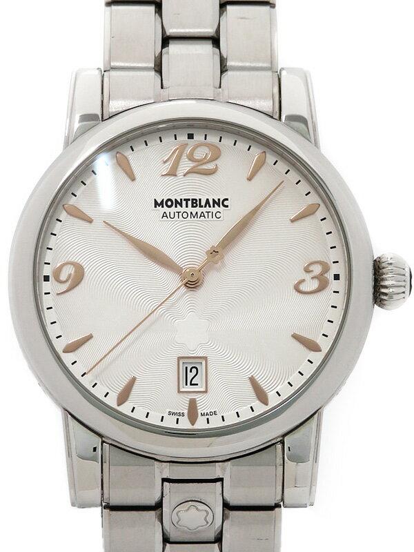 【MONTBLANC】【裏スケ】モンブラン『スターデイト オートマティック』7190 メンズ 自動巻き 3ヶ月保証【中古】