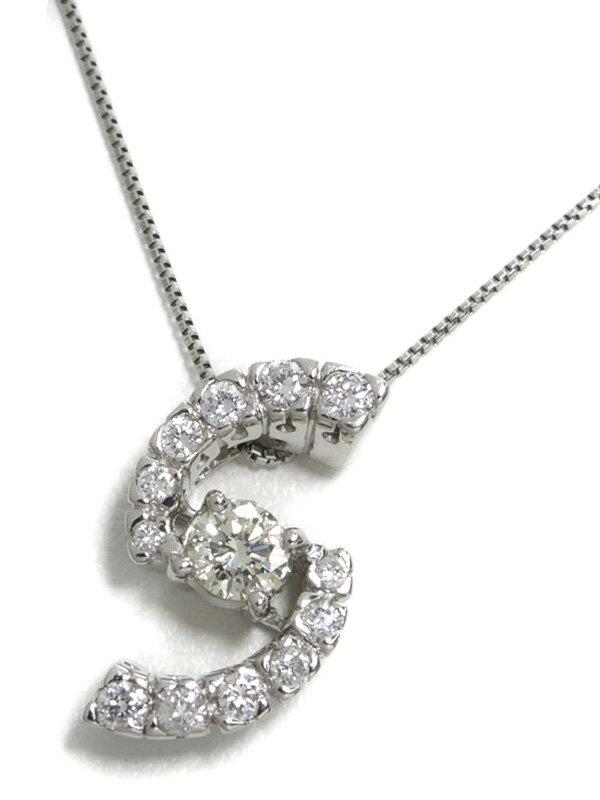 セレクトジュエリー『PT900/PT850ネックレス ダイヤモンド0.19ct 0.22ct』1週間保証【中古】