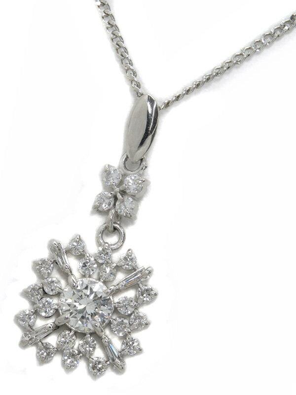 【ソーティング】セレクトジュエリー『PM850ネックレス ダイヤモンド0.377ct/I/SI-2/VERY GOOD 0.561ct』1週間保証【中古】