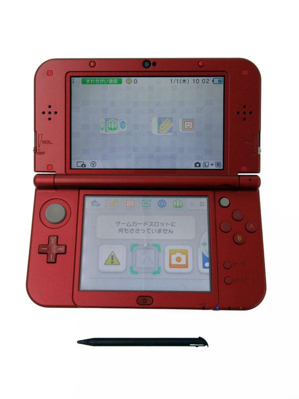 任天堂『Newニンテンドー3DSLL』RED-S-RAAA(JPN) メタリックレッド 3Dブレ防止機能 ゲーム機本体【中古】
