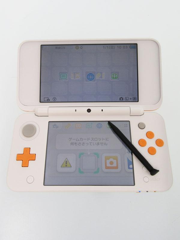 【Nintendo】任天堂『Newニンテンドー2DS LL』JAN-S-OAAA(JPN) ホワイト×オレンジ ゲーム機本体 1週間保証【中古】