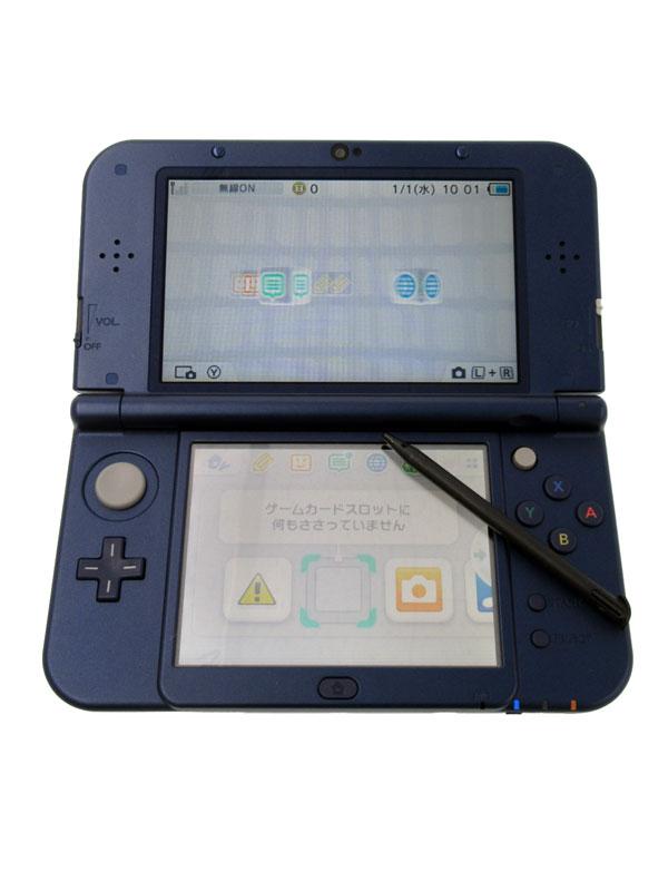 任天堂『Newニンテンドー3DSLL』RED-S-BAAA(JPN) メタリックブルー 3Dブレ防止機能 ゲーム機本体【中古】