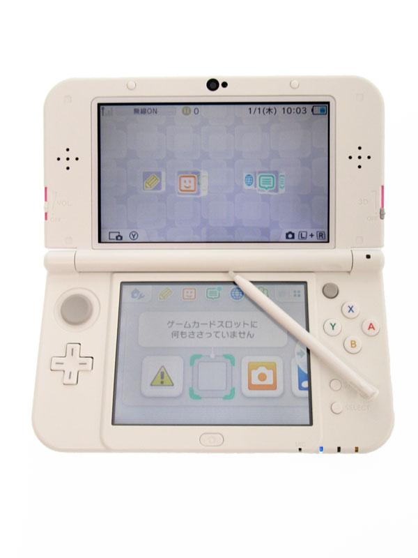 【Nintendo】任天堂『Newニンテンドー3DSLL』RED-S-PAAA(JPN) ピンク×ホワイト 3Dブレ防止機能 ゲーム機本体【中古】