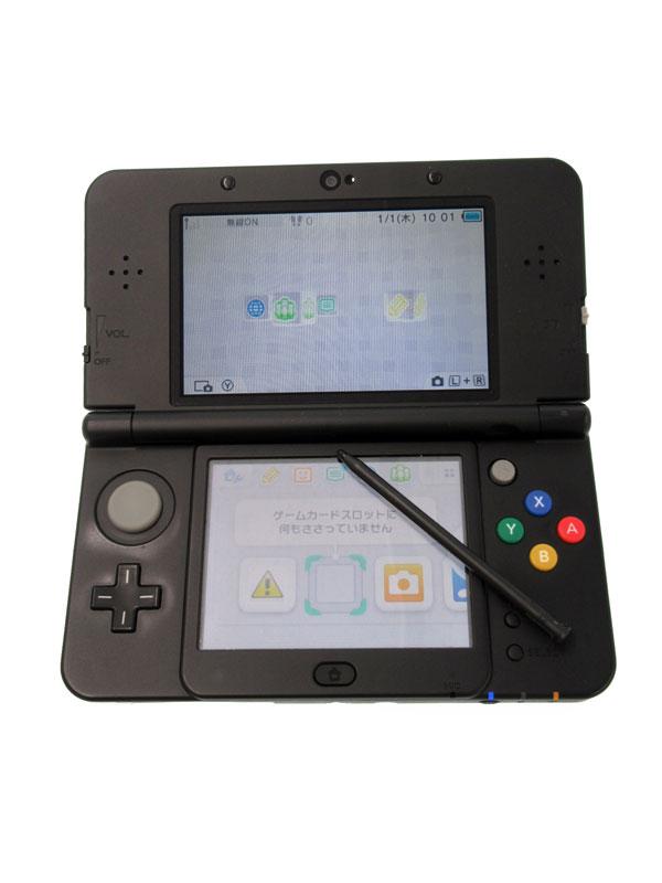 任天堂『Newニンテンドー3DS』KTR-S-KAAA(JPN) ブラック 3D ゲーム機本体【中古】