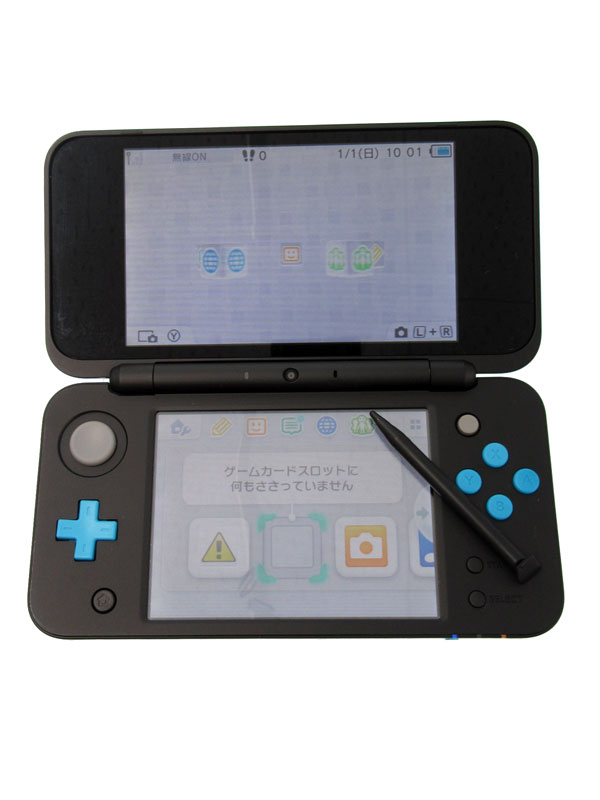 【Nintendo】任天堂『Newニンテンドー2DS LL』JAN-S-BAAA(JPN) ブラック×ターコイズ ゲーム機本体 1週間保証【中古】