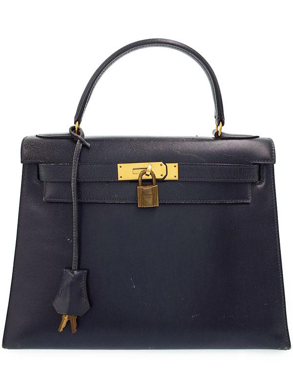 【HERMES】【ゴールド金具】エルメス『ケリー28 外縫い』N刻印 1984年製 レディース ハンドバッグ 1週間保証【中古】
