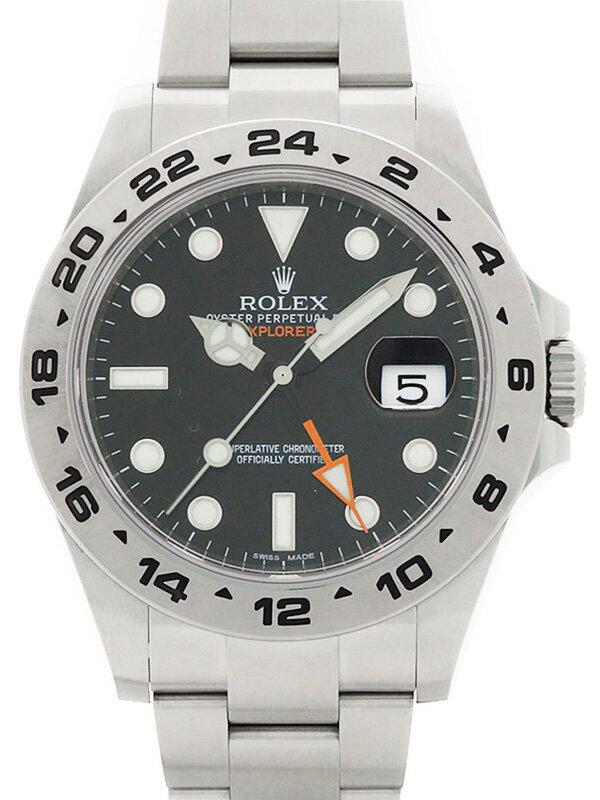 【ROLEX】【'14年購入】【仕上済】ロレックス『エクスプローラー2』216570 ランダム番 メンズ 自動巻き 12ヶ月保証【中古】