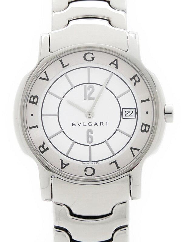 【BVLGARI】【電池交換・仕上済】ブルガリ『ソロテンポ』ST35S メンズ クォーツ 1週間保証【中古】