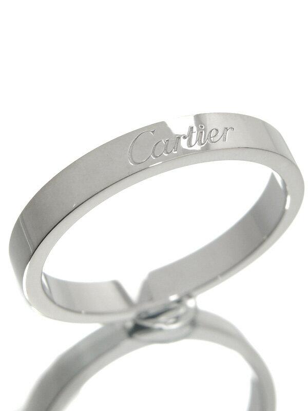 【Cartier】【仕上済】カルティエ『エングレーブド リング』16号 1週間保証【中古】