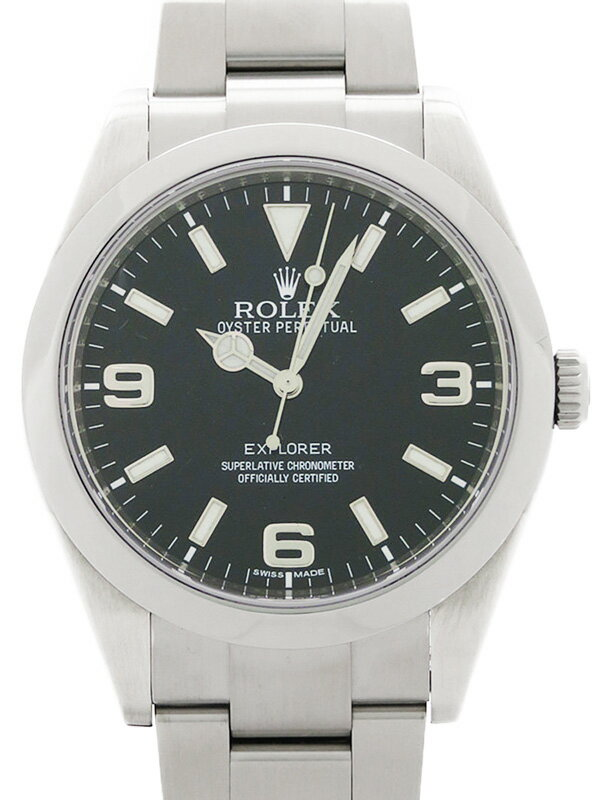 【ROLEX】ロレックス『エクスプローラー1』214270 ランダム番 メンズ 自動巻き 12ヶ月保証【中古】