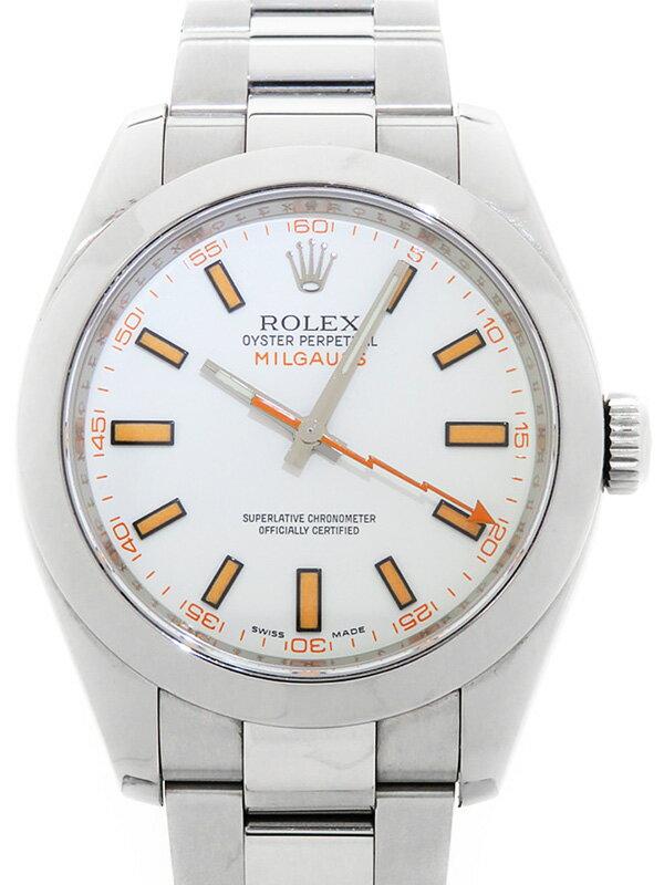 【ROLEX】【OH済】ロレックス『ミルガウス』116400 V番'09年頃製 メンズ 自動巻き 12ヶ月保証【中古】