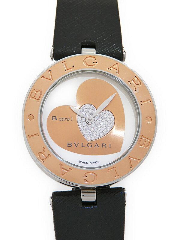 【BVLGARI】【電池交換済】ブルガリ『B-zero1 ビーゼロワン ダブルハート』BZP30S レディース クォーツ 1ヶ月保証【中古】