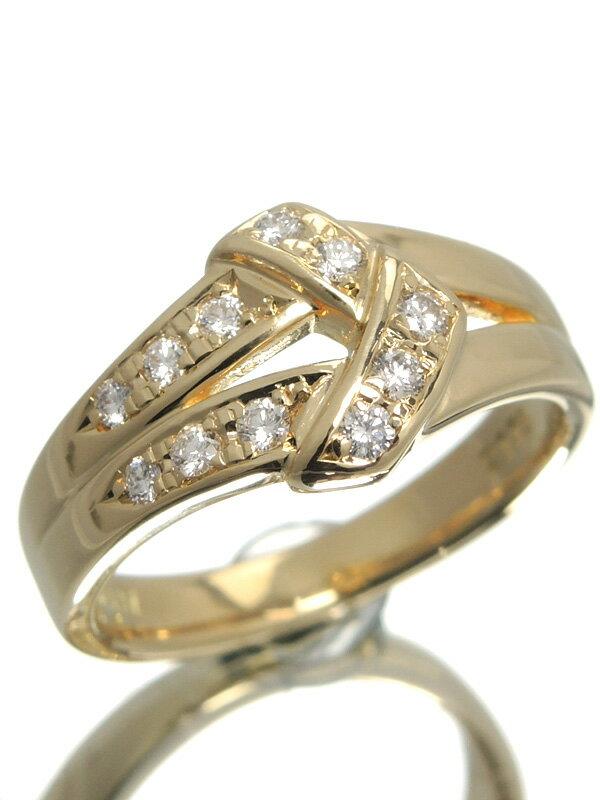 【POLA】【仕上済】ポーラ『K18YGリング ダイヤモンド0.17ct』12号 1週間保証【中古】